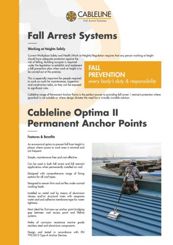 cableline optima II permanent anchor points